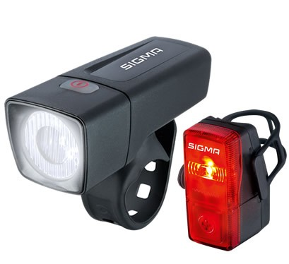 SIGMA Aura 25 & Cubic Fahrrad-Beleuchtungsset mit LED