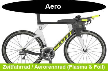 Scott Zeitfahrrad und Aero-Rennrad Modelle