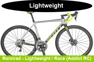 Scott Race Rennrad Angebote / Lightweight Modelle