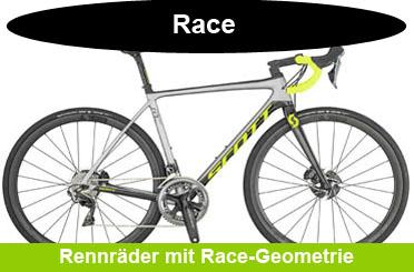 Rennrad mit Race-Geometrie im Onlineshop kaufen