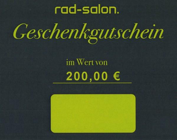 Radsalon Saarbrücken - Geschenkgutschein 200 Euro